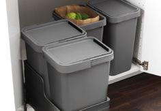 Definitely need this in new cabin kitchen. Recycle, glass recycle, trash, and compost.