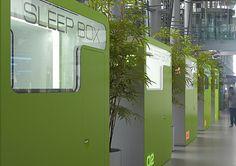 Sleepbox at airports. Airport Sleeping Pods, Sleep Box, Storage Pods, Capsule Hotel, Yanko Design, Hostel, Shelter, Innovation, Arch