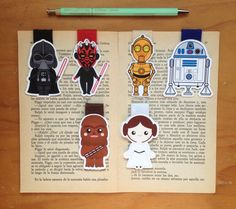 Star Wars Magnetic Bookmarks by HelloPapers on Etsy