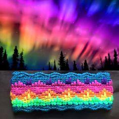 Aurora Borealis HeadbandThis crochet pattern is available to download Download Pattern:Aurora Borealis Headband