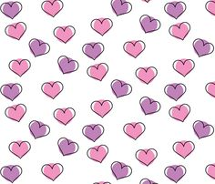 Pink and Purple Hearts fabric by annaliesbabyboutique on Spoonflower - custom fabric