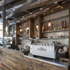 Coffee shop interior decor ideas 28 #coffeeshopinteriors #coffeeshops
