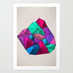 Geographik/Geometrik Art Print by Aurelie Scour  - $15.00