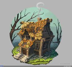 Домик с черепичной крышей — Компьютерная графика и анимация — Render.ru