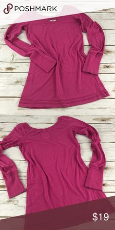 """PINK Long Sleeve Top Soft long sleeve top. In good condition.   📐Measurements & Information 📐  Chest approx. 30"""" Length approx. 26"""" 60% cotton, 35% Polyester, 5% spandex Poof Excellence Tops Tees - Long Sleeve"""