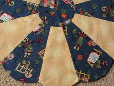 Primitive Fall Scarecrows Table Topper by donnasquiltcreations