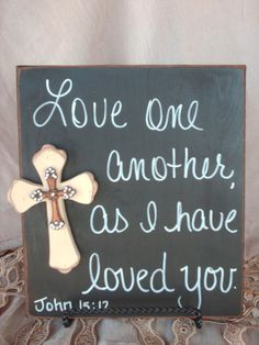 Scripture Wedding Sign Love One Another Sign by SassySouthernCharm, $18.00