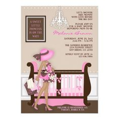 Chic Modern Mom Contemporary Baby Shower Invite $1.90