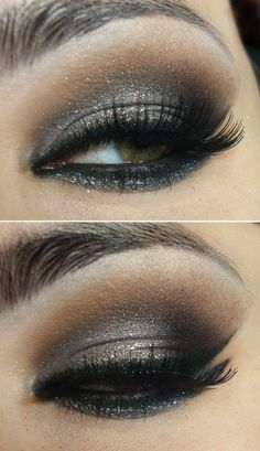 Metallic brown smokey eye