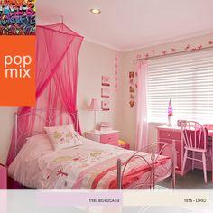 Um toque de violeta para o quarto da sua filha ficar encantador. #decor #colors #design