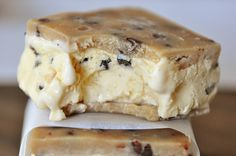 Chocolate Chip Cookie Dough Ice Cream Sandwiches - my review: so so good, so so easy. Definitely recommend for an easy dessert that'll make you look fancy.