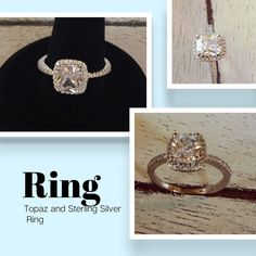CZ Silver Set Ring Gorgeous CZ Ring on Sterling silver setting. Jewelry Rings