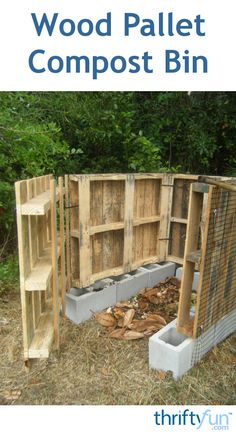 This is a guide about making a wood pallet compost bin. Pallets are often available for free and can be used for many wood building projects.