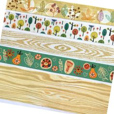Washi Tape Fall Autumn Wood Trees Leaves Thanksgiving