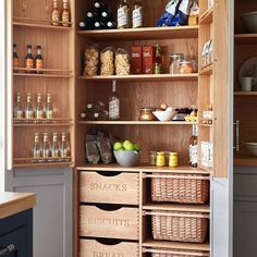 Luxury Kitchen Raynham kitchen larder or pantry from Naked Kitchens - Be inspired to install order in your home with these great ideas for kitchen storage