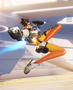 Overwatch - Tracer, Renaud Galand on ArtStation at http://www.artstation.com/artwork/overwatch-tracer-62a80787-3e01-4c35-b8d1-ac28d34abe8d