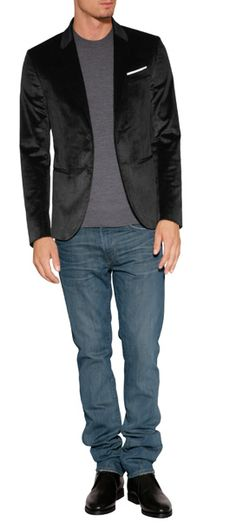 NEIL BARRETT -> Velvet Blazer in Black   #NotingBetter #HauteCouture #Outfit #Guys #LatestTrends  #Elegent #Perfect #Amazing  http://www.stylebop.com/rs/product_details.php?menu1=designer==330=485074