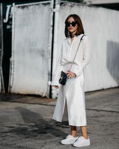 All white silk 'n Linen. More at zhours.me   #monochrome #allwhite #sportchic #fashionforward #minimalist #cmeocollective #aussielabels #laidback #uniqlo #linenshirt #satin #wrapskirt #architecturalsilhouette #holidaywhite #streetstyle #styleblogger #ootd #lookbook #zhours #casualcool #casualelegance #时尚 #穿搭 #时尚博主