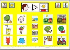 MATERIALES - Tableros de Comunicación de 12 casillas.    Tablero de comunicación de doce casillas sobre el verano.    http://arasaac.org/materiales.php?id_material=224