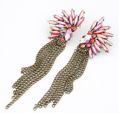 Ladygagadesigns -  Flower Tassle Housewives Look Earrings, $22.00 (http://ladygagadesigns.com/flower-tassle-housewives-look-earrings/)#fashion #model #style #weheartit #girly #classy #fashiondiaries #pants #ootd #highheels #shoes #insta #accessories #design #innovation #creative #inspiration  #print #branding #usability