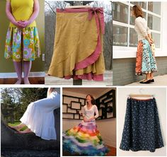 15 free skirt patterns for women  Labels: free, pattern, sewing, summer, tutorial    DON'T GO OUT AND BUY A SKIRT PATTERN. Most are easy to sew yourself. There are countless free patterns floating on the web, here are free patterns and tutorials for 15 skirts via threadbanger. Here are some of my favorites.Click on a picture to take you to its  tutorial.