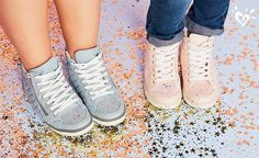 Sparkly sneaks are good for the sole!