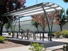 'Parachute' bike shelter in Forest Grove, OR. Click image for link to gallery and visit the slowottawa.ca boards >> http://www.pinterest.com/slowottawa/