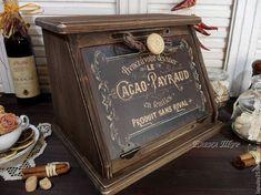 """Купить """"Cafe de Paris"""" хлебница - хлебница, хлебница из дерева, французский стиль, для хлеба, для выпечки"""