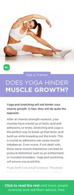 Do yoga and stretches on my rest days hinder muscle growth? Visit http://wlabs.me/1wMCV33 to find out!