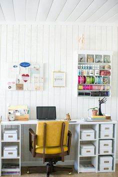 #Organized #office-  #white plus #yellow