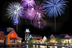 Fireworks over the Village at Baytowne Wharf