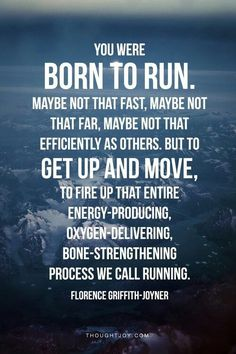 It's true!!! We were born to run!!! Re pin to spread the word about running!!!:)