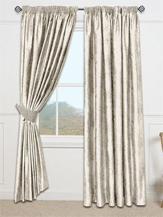 Premium Velvet Almond Curtains - a shimmering neutral colour, these curtains will add a depth and detail to your room without overpowering your decor. #curtains #velvet