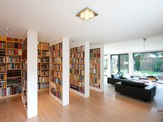 Beautiful home library.