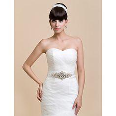 Fabuloso raso / Crystal de Mujeres de la boda / vestido de noche Belt (más colores) – USD $ 42.39