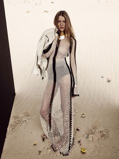 Roos Abels by Camilla Akrans for Vogue China February 2016 Desert Flower