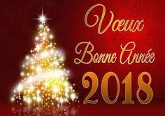 Bonne année 2018 sur cartes de vœux