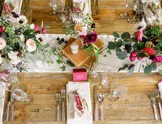 Event & Floral Design: Sinclair and Moore; Events Venue & Catering: Redondo Beach Historic Library; Vintage Rentals: Found Rentals; Linens: La Tavola; Calligraphy: La Happy Design