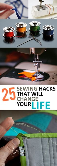 25 sewing hacks that will change your life - sewing tips and tricks that . - 25 sewing hacks that will change your life – sewing tips and tricks that … - Sewing Basics, Sewing Hacks, Sewing Tutorials, Sewing Crafts, Sewing Tips, Sewing Ideas, Diy Crafts, Sewing Lessons, Dress Tutorials