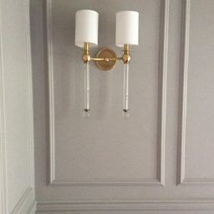 This pic doesn't do this situation justice, but just trust when I say These Sconces in These Panels with That Gray is Everything. #designmanifest #malvernreno #livingroom #wallsconce #hudsonvalleylighting