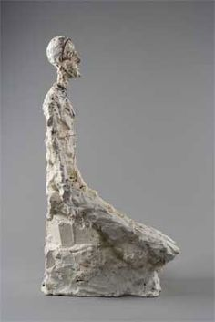 Alberto Giacometti Half-length of a man AGD 366 Creation date 1965 Technique Painted plaster retravaillé au canif Dimensions 23,85 x 7,67 x 12,75 in. Collection Fondation Alberto et Annette Giacometti