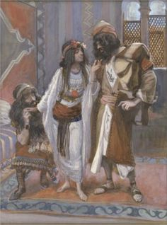 The Harlot of Jericho and the Two Spies - James Tissot, c.1902, 290/451.