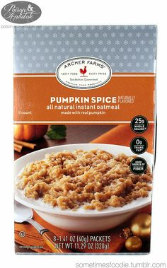 Archer Farms Pumpkin Spice Oatmeal