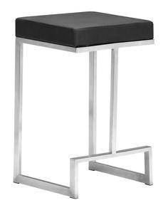 Zuo Modern Darwen Counter Chair  in Black (Set of 2)