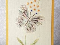Fadengrafik Grußkarten Set 246 Schmetterling