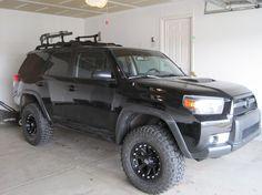black on black💗💗 Suv Trucks, Lifted Trucks, Cool Trucks, Lifted 4runner, Toyota 4runner, Off Roaders, Chevrolet Tahoe, Thinking Quotes, Custom Trucks