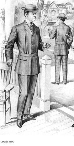 Edwardian mens wear 1910's