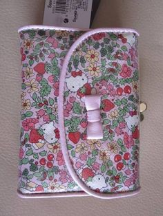 Hello Kitty Liberty Fabric Pink Wallet Japan French Clip Floral Print Sanrio | eBay