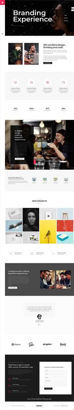 Pofo is clean, trendy and modern design responsive multipurpose WordPress #theme for creative #digital #studio #website with 25+ niche homepage layouts to live preview & download click on Visit