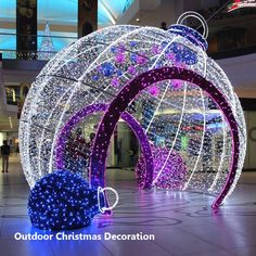Outdoor decorative big LED light Christmas balls Visit the post for more. Outdoor Christmas Tree Decorations, Christmas House Lights, Xmas Lights, Decorating With Christmas Lights, Ball Lights, Holiday Lights, Christmas Balls, Light Decorations, Christmas Lights Outdoor Trees